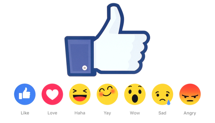 Facebook Reactions Listing