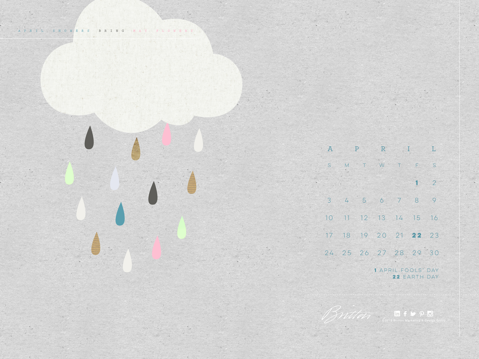 April Calendar - Standard version 2