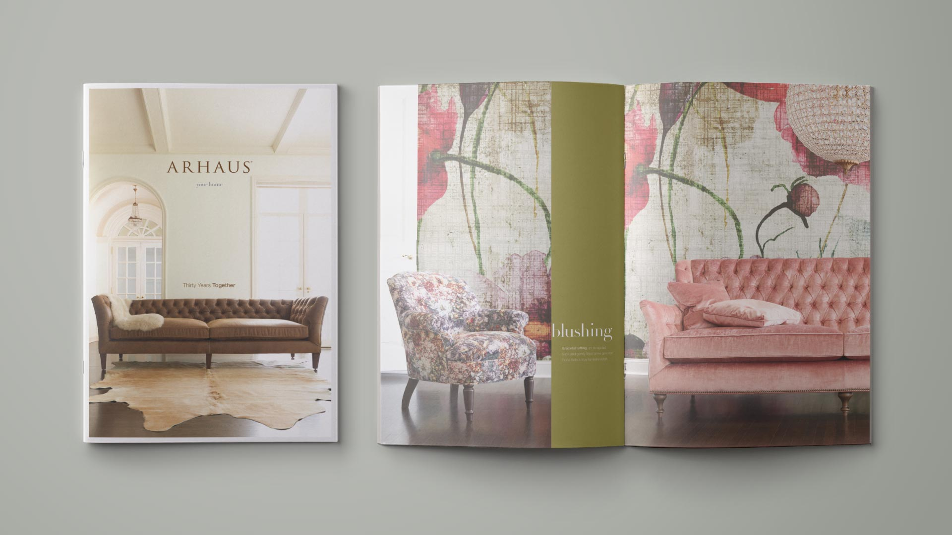 Arhaus Catalog Cover and Interior Spread