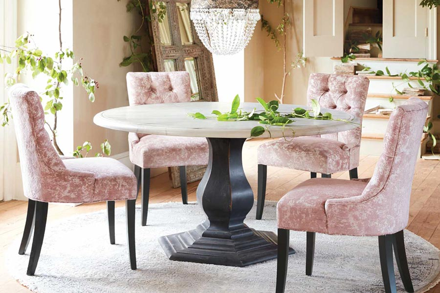Arhaus Image Dining Room with Upholstered Chairs