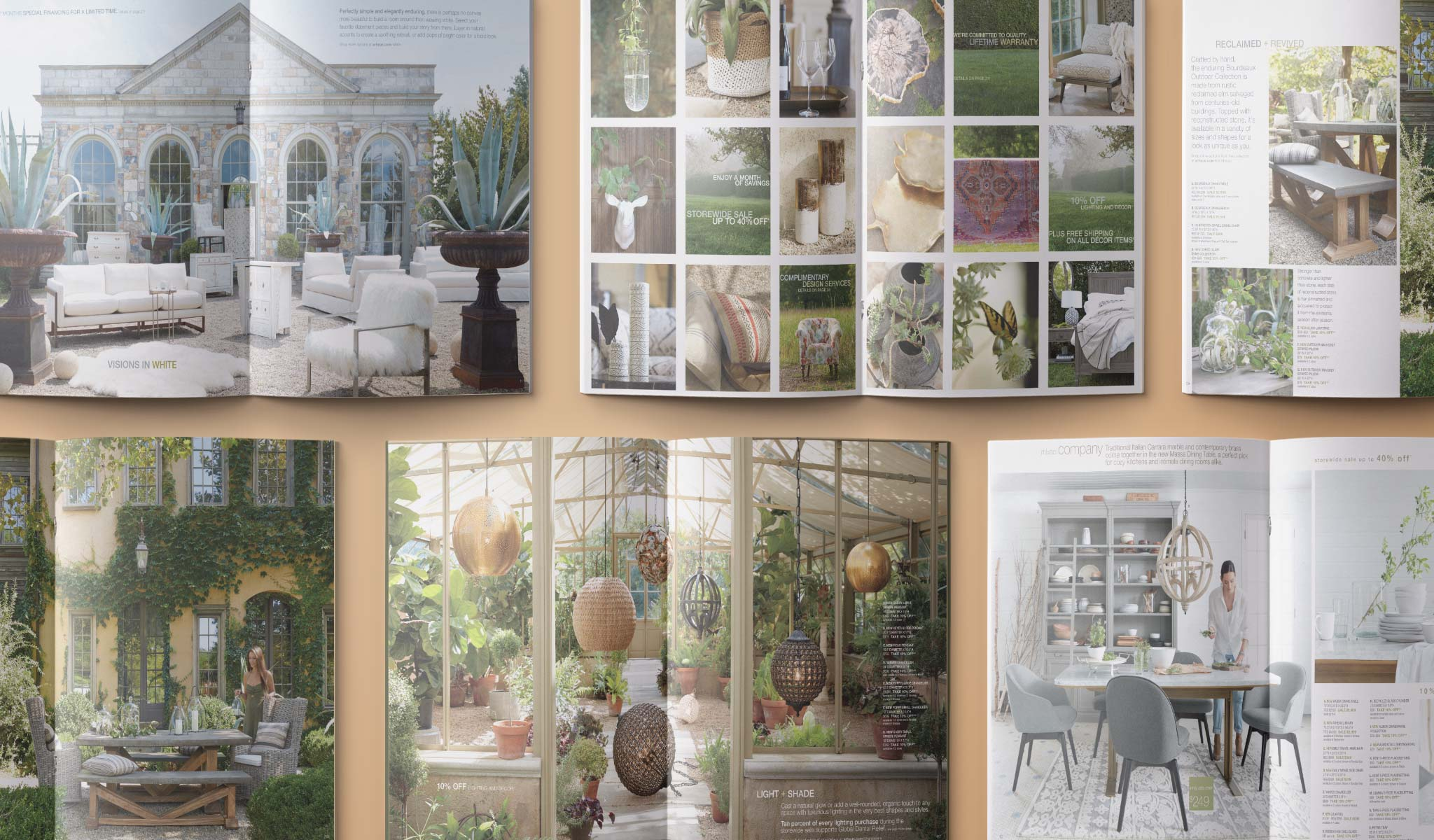 Arhaus Interior Catalog Spreads