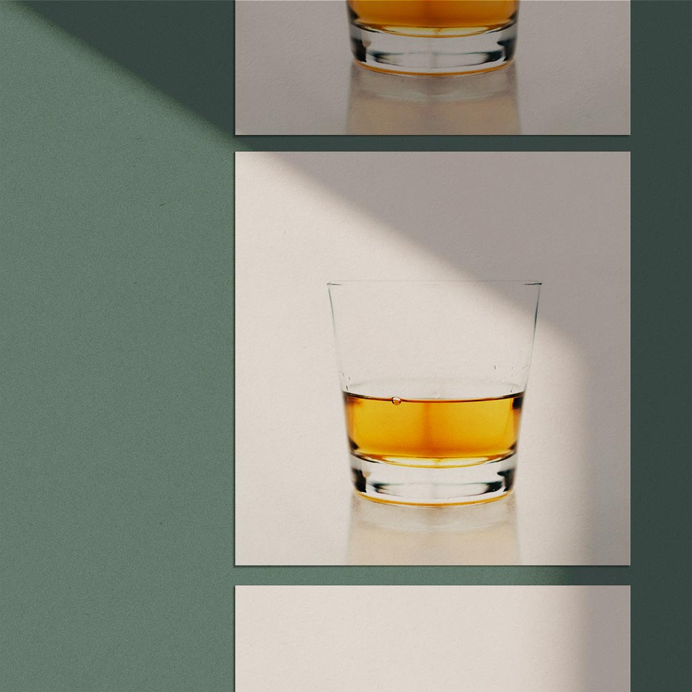 Prints of Whiskey in glass on Wall