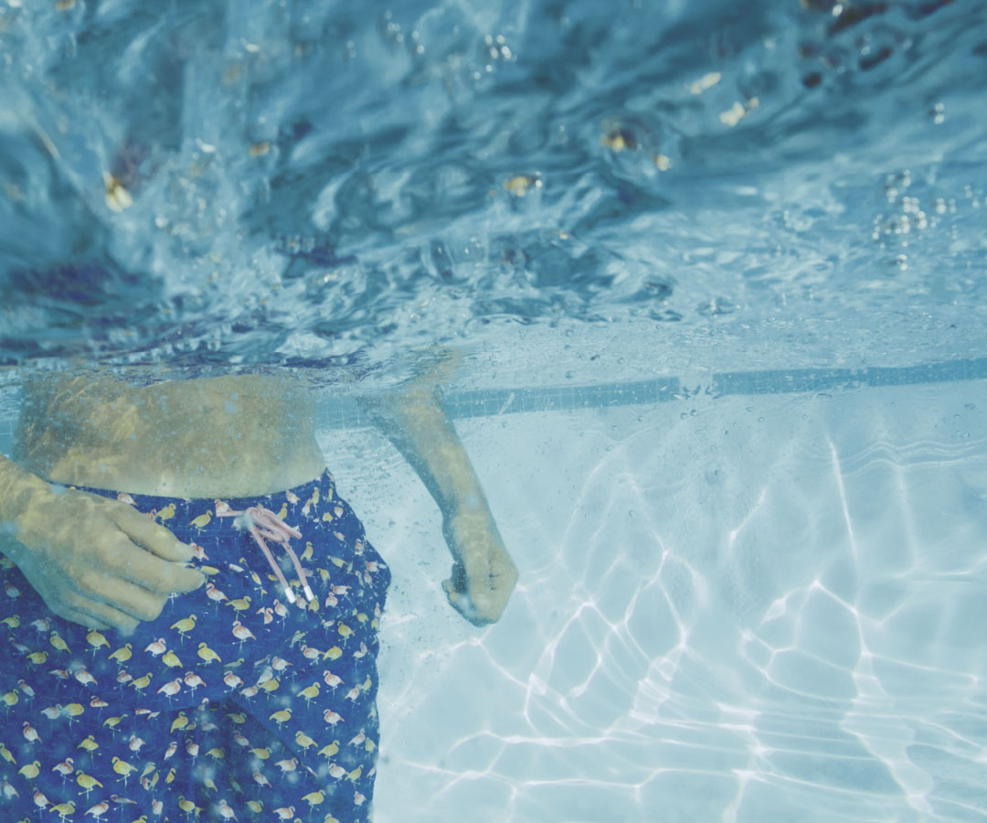 Peter Millar Underwater Image of Swim Trunks