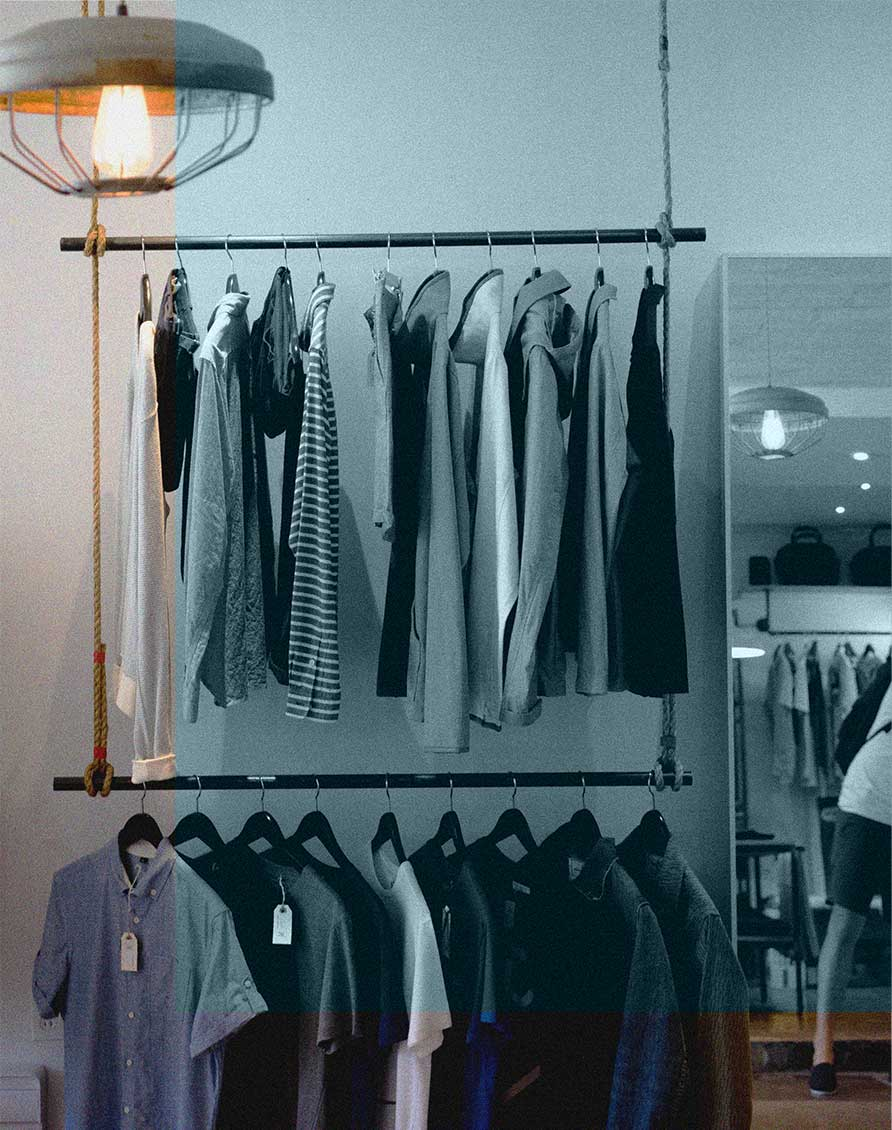 Retail Store Clothes Rack