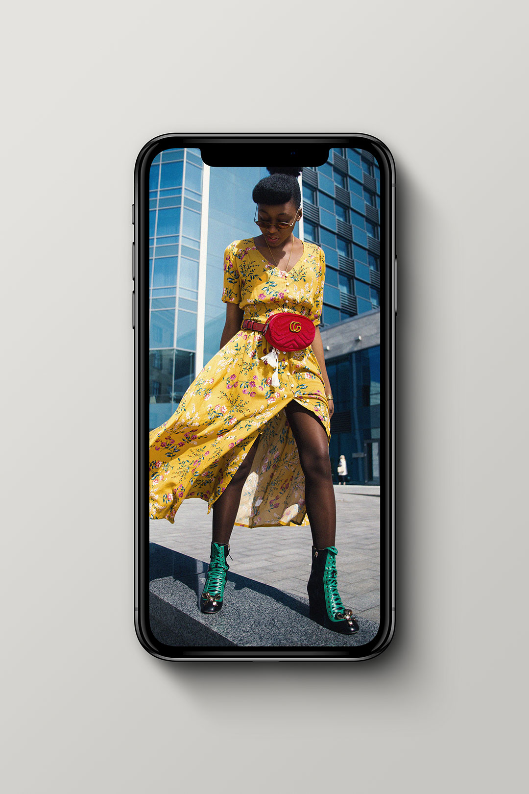 Fashion Female on Mobile Device