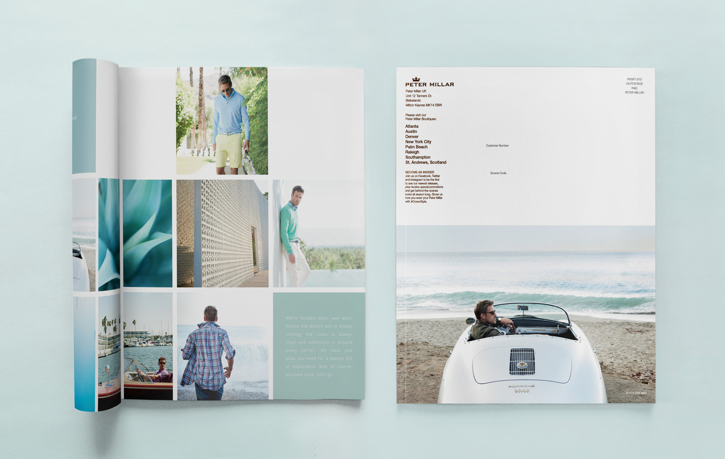 Peter Millar Interior Catalog Page and Cover
