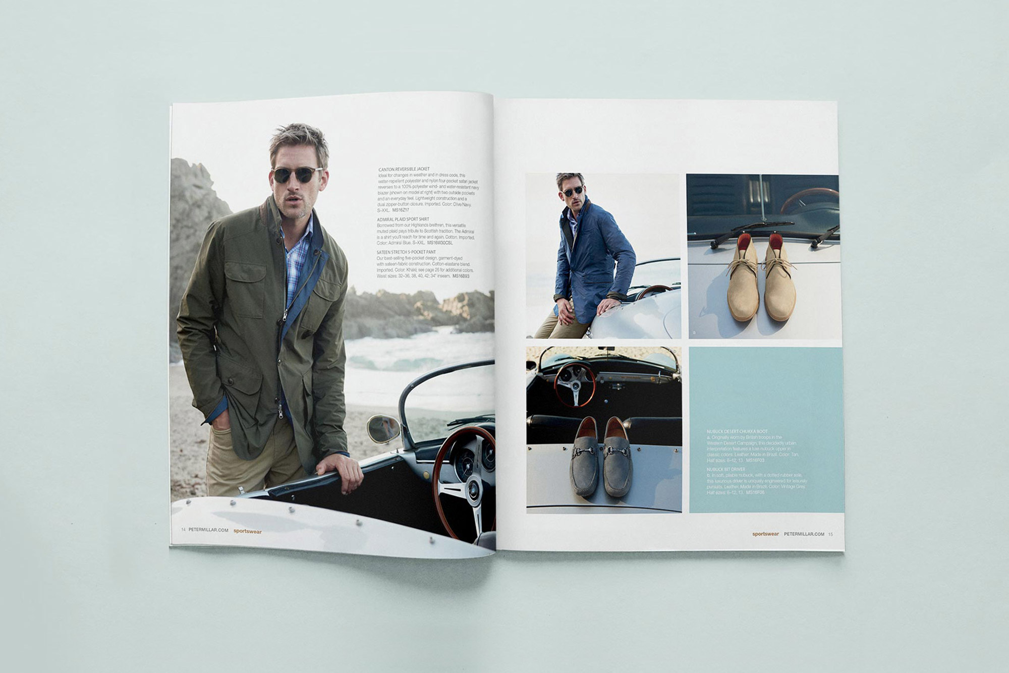 Peter Millar Image of Interior Catalog Spread