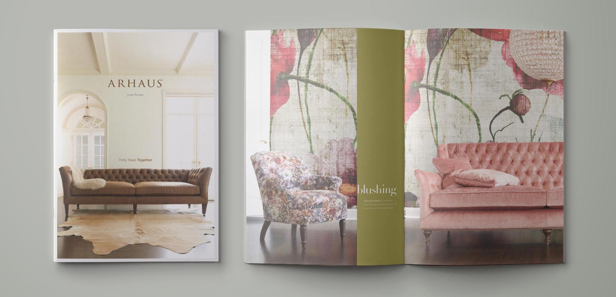 Arhaus Home Goods and Furniture Catalog Spread