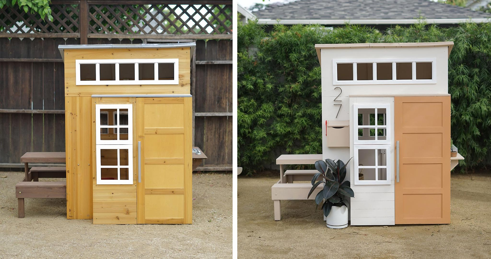 Playhouse before and after paint project images