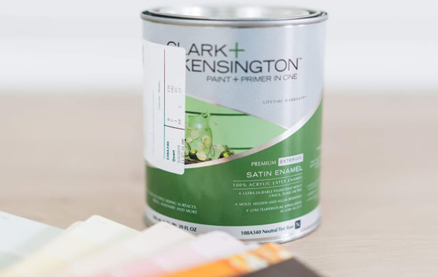 Clark + Kensington Paint Can and Color Swatches