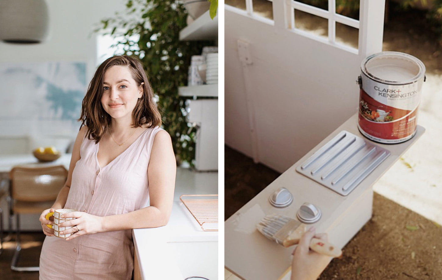 "Influencer ""Almost Makes Perfect"" Molly Madfis and Clark + Kensington Paint Cans"