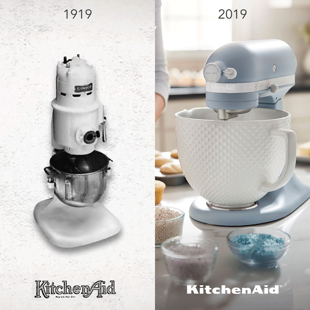 KitchenAid Old and New Blender