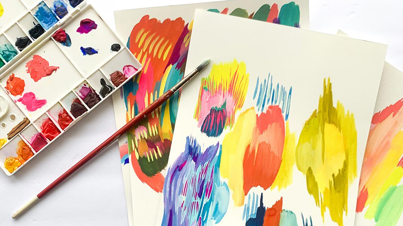 paint with a brush and abstract paintings