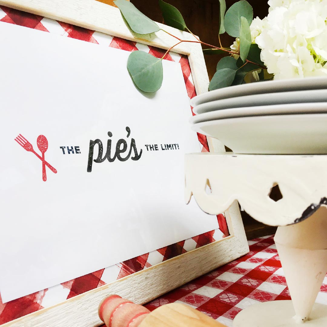 pie sign that says pie's the limit