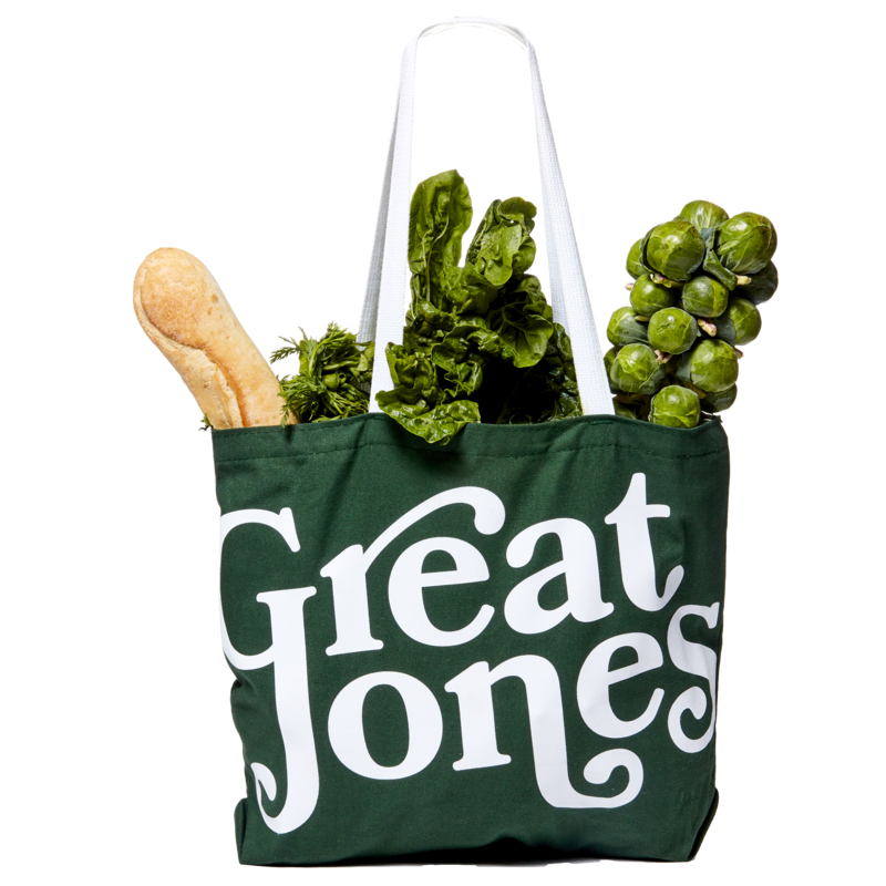 tote with fruits